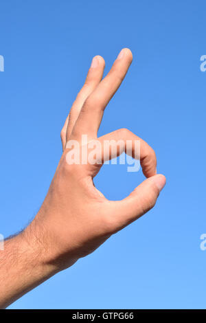 ok, sign, hand, arm, symbol, adult, gesture, background, isolated, human, white, concept, gesturing, finger, business, - Stock Photo
