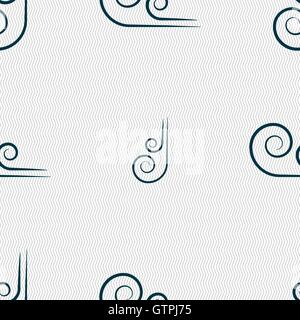 wind icon sign. Seamless pattern with geometric texture. Vector - Stock Photo