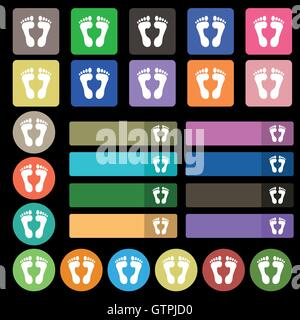 Food step Icon sign. Set from twenty seven multicolored flat buttons. Vector - Stock Photo