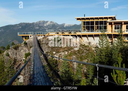 Sea to Sky gondola located in Squamish, British Columbia, Canada. - Stock Photo