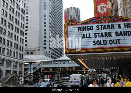 The Chicago Theater on State Street in Chicago, IL - Stock Photo