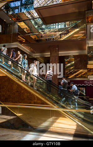 Public Space Atrium Trump Tower Nyc Stock Photo