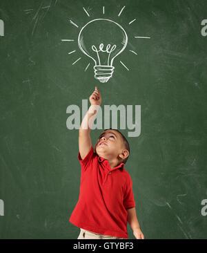 Genius child - Stock Photo