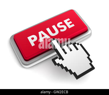 pause keyboard concept  3d illustration - Stock Photo
