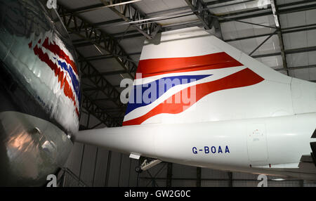 Concorde G-BOAA on display at East Fortune in Scotland - Stock Photo