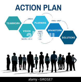 Business Plan Strategy Development Process Graphic Concept - Stock Photo