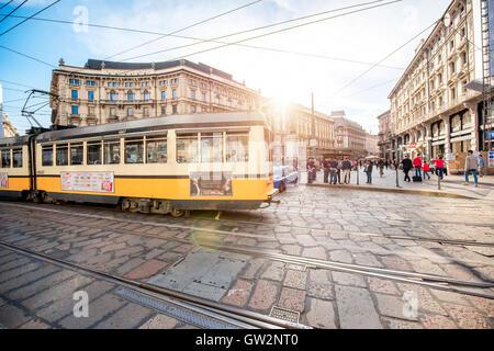 Cordusio square in Milan - Stock Photo