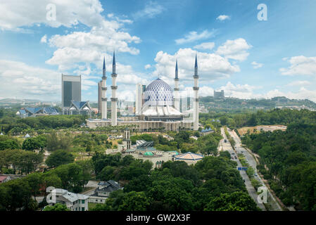 Masjid Sultan Salahuddin Abdul Aziz Shah or Blue Mosque in Shah alam ,Selangor, Kuala lumpur, Malaysia. Sultan Salahuddin Abdul Stock Photo