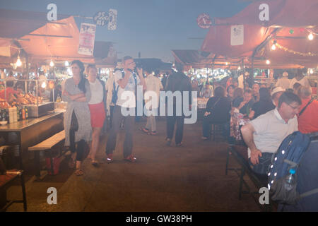Jamaa el Fna Square [fast food Restaurants] [Dining outdoors] - Stock Photo