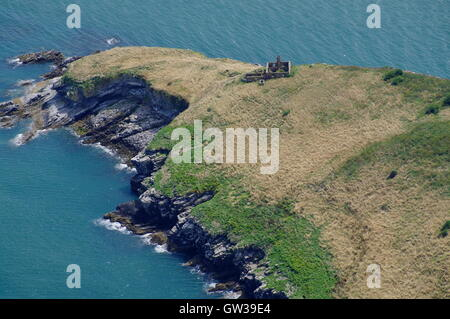 Aerial view of Puffin Island, Anglesey, Wales, - Stock Photo