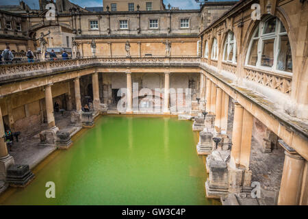Thermal pool in Bath England - Stock Photo