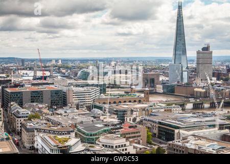 Skyline of London England - Stock Photo