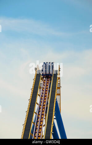 The beautiful Six Flags Great Adventure amusement park. New Jersey - United States of America. - Stock Photo