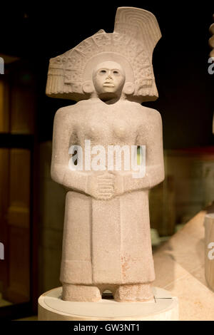 Stone figure of the Huaxtec goddess Tlazolteotl, Room 27 British Museum, London, UK. - Stock Photo
