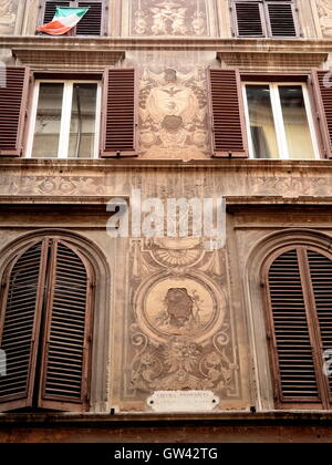 AJAXNETPHOTO. 2015. ROME, ITALY. - DECORATED PROPERTY - ONCE THE HOME OF GAETANO GRANDONI IN 1909.   PHOTO:JONATHAN EASTLAND/AJAX  REF:GX151012_668 Stock Photo