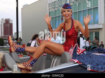 Atlantic City, NJ, USA. 10th Sep, 2016. 10 September 2016 - Atlantic City, New Jersey - Miss Oklahoma, Sarah Klein. - Stock Photo