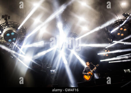 Berlin, Germany. 10th Sep, 2016. Kings of Leon performing at the Lollapalooza festival in Berlin, Germany, 10 September - Stock Photo