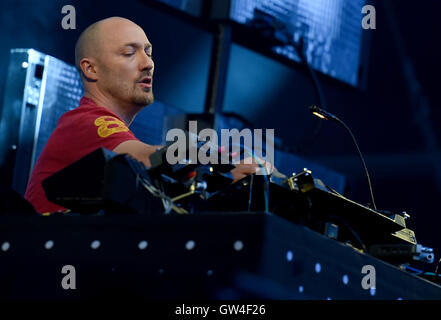 Berlin, Germany. 10th Sep, 2016. Paul Kalkbrenner performing at the music festival Lollapalooza in Berlin, Germany, - Stock Photo