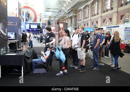 Alexandra Palace, North London, UK. 11th September, 2016. Hundreds of enthusiasts attend Legends of Gaming Live - Stock Photo