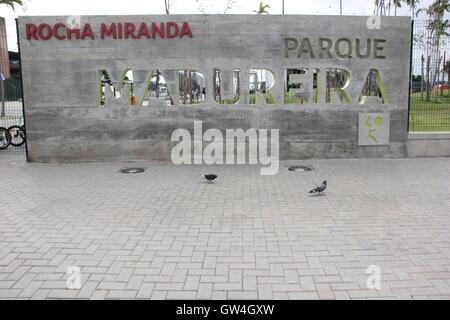 Rio de Janeiro, Brazil, 10 September, 2016: Madureira Park holds the world's largest public half pipe skate park, - Stock Photo