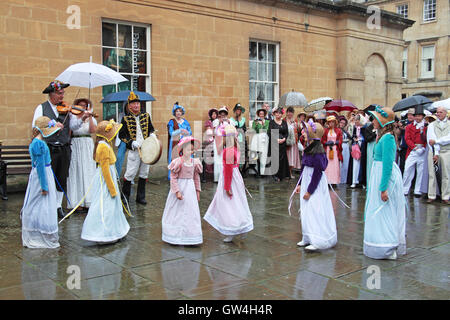 Jane Austen Festival. 9th-18th September 2016. Bath, Somerset, England, UK. Performers from 'Steps in Time' junior - Stock Photo