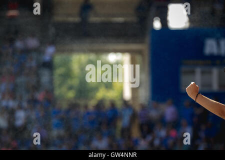 Carlos Tartiere stadium, Oviedo, Asturias, Spain. 11th Sep, 2016. Liga 123 match between Real Oviedo v CD Mirandes.Final - Stock Photo