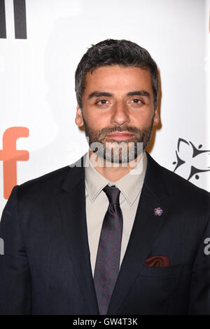 Toronto, Ontario, Canada. 11th Sep, 2016. Actor OSCAR ISAAC attends 'The Promise' premiere held at Roy Thomson Hall - Stock Photo