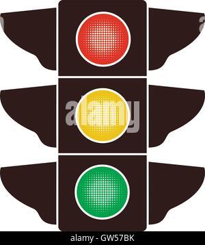 vector icon of traffic light - Stock Photo
