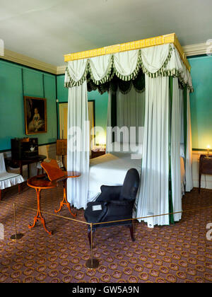 Queen's bedroon in the Kew Palace - Royal Botanic Garden Kew , England - Stock Photo