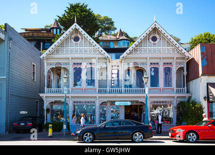 Sausalito, USA - September 23, 2015: A traditional fashion store on the waterfront - Stock Photo