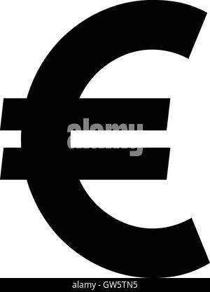Euro Official Money Symbol Vector Illustration Outlined Sign Stock