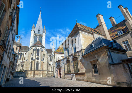 The Church of Notre-Dame of Dijon, a Roman Catholic church in Dijon, Burgundy, France - Stock Photo