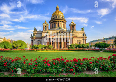 St Isaac cathedral in Saint Petersburg, Russia, is the biggest christian orthodox church in the world - Stock Photo