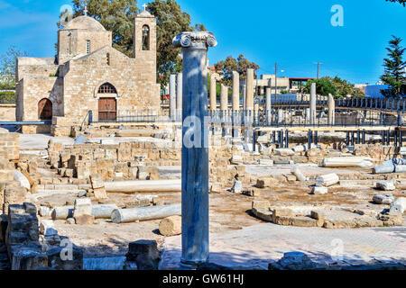 Saint Paul's Pillar Paphos Cyprus - Stock Photo