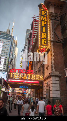 The AMC 25 Theatre in Times Square in New York on Tuesday, September 6, 2016. This summer saw Hollywood release - Stock Photo