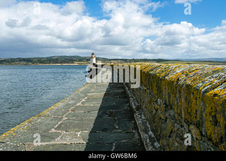 The breakwater and lighthouse at Ardrishaig harbour on Loch Gilp, Argyll and Bute, Scotland, UK - Stock Photo
