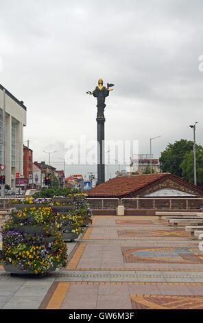 Statue of Sveta Sofia (St Sofia), Nedelya Square, Sofia, Bulgaria. A work by sculptor Georgi Chapkanov - Stock Photo