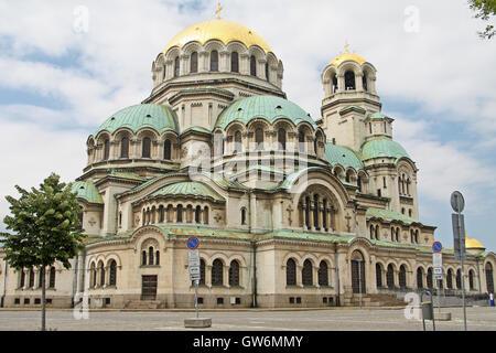 St Alexander Nevsky Cathedral, Sofia, Bulgaria - Stock Photo