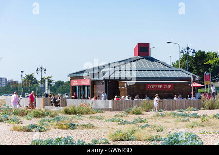 Coffee Cup Cafe at Eastney Beach, Southsea, Portsmouth, Hampshire, England, United Kingdom - Stock Photo
