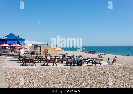 Beach cafe, Southsea East Beach, Southsea, Portsmouth, Hampshire, England, United Kingdom - Stock Photo