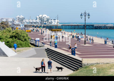 Seafront and South Parade Pier, Clarence Esplanade, Southsea, Portsmouth, Hampshire, England, United Kingdom - Stock Photo