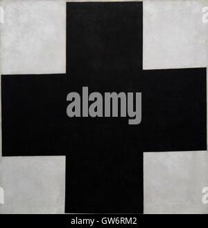 Kazimir Malevich: 'Black Cross'. Oil on Canvas (1923) - Stock Photo