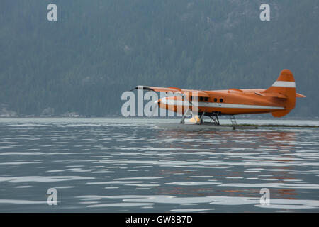 Sea Plane on the water - Stock Photo