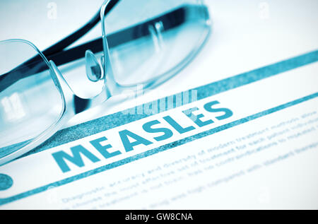 Diagnosis - Measles. Medical Concept. 3D Illustration. - Stock Photo