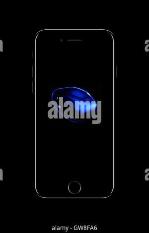 Smart phone iphone 7, digitally generated artwork. - Stock Photo