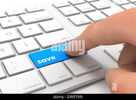 save keyboard concept  3d illustration - Stock Photo