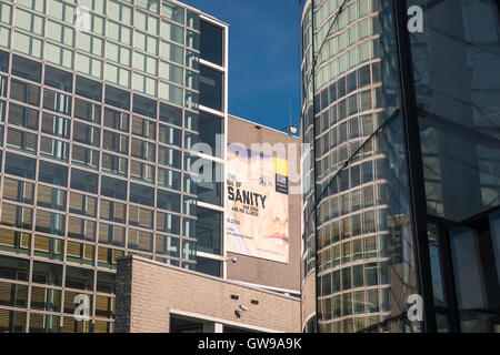 Modern architectural exterior of the Van Gogh Museum, Amsterdam, Netherlands - Stock Photo