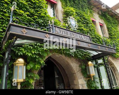 Hotel de la Cite, Carcassonne, Languedoc Roussillon, France - Stock Photo