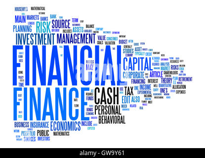 financial text cloud - Stock Photo