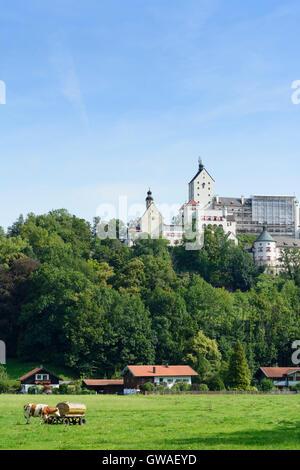 Aschau im Chiemgau: Hohenaschau Castle, Germany, Bayern, Bavaria, Oberbayern, Chiemgau, Upper Bavaria - Stock Photo